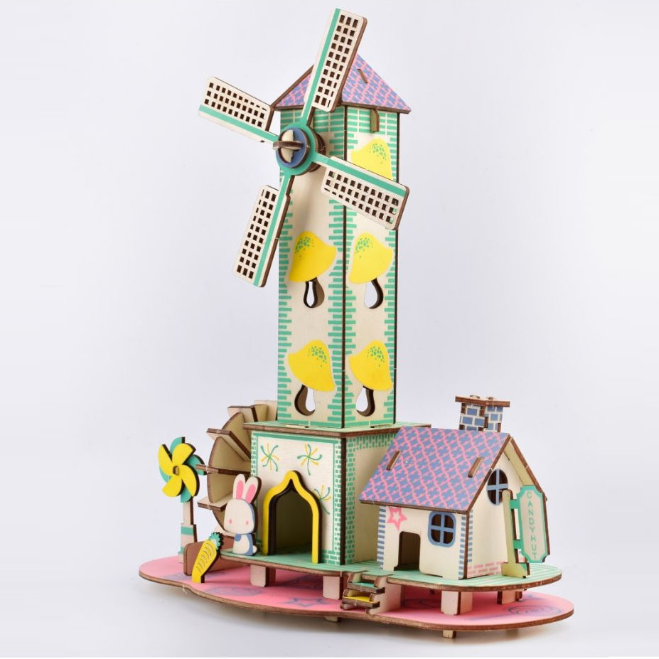 Đồ chơi lắp ráp gỗ 3D Mô hình Nhà nhỏ Nông thôn HD01