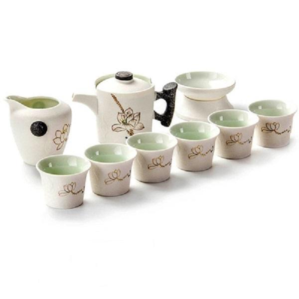 Bộ ấm chén pha trà Hoa Sen