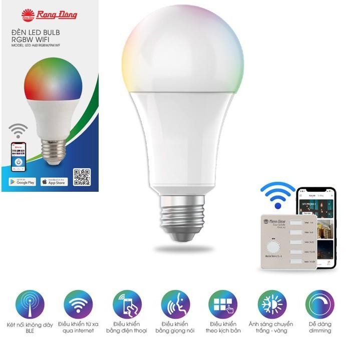 Bóng Led Bulb 9W RGB Bluetooth Rạng Đông A60.BLE.RGBCW/9W