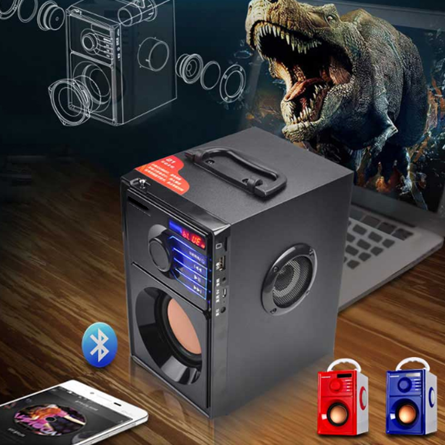 Loa Nghe Nhạc Xách Tay A10 Hỗ Trợ Bluetooth, USB, Thẻ Nhớ, Jack 3.5, Nghe Đài FM