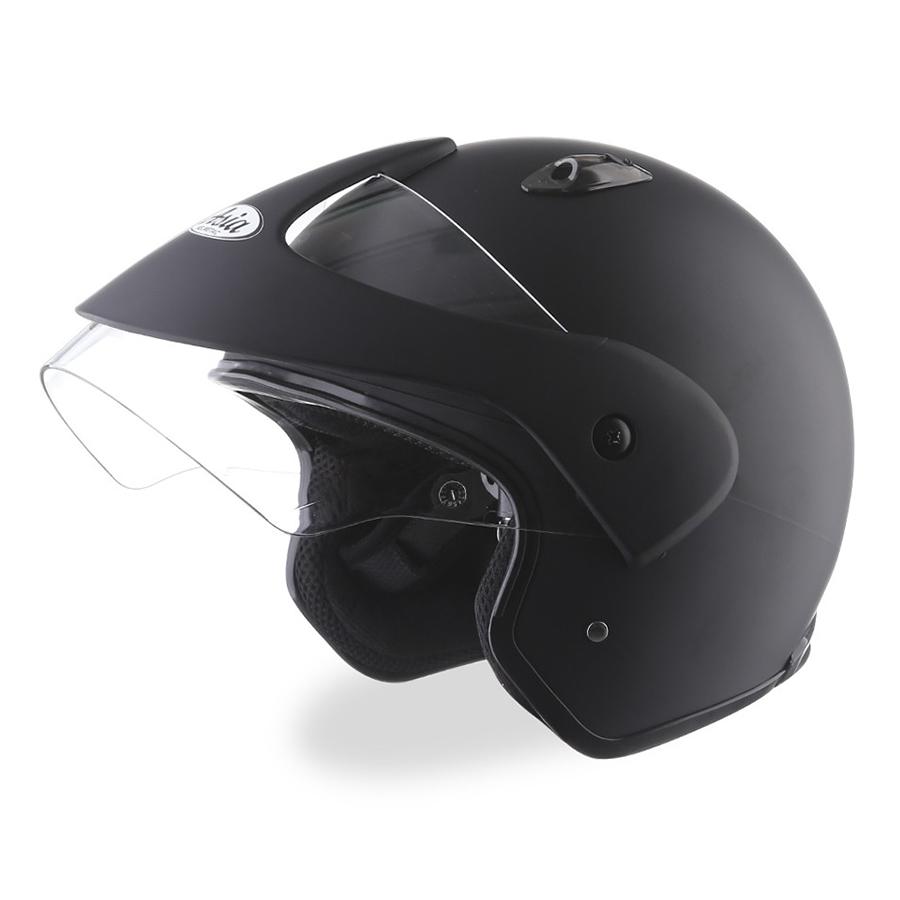 Mũ bảo Hiểm Asia MT121 (Size L) - Đen Nhám - Hàng chính hãng