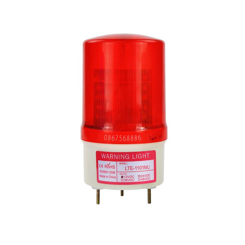 Đèn cảnh báo âm thanh điện áp DC12/24/48V - AC220V. 4 Màu (Đỏ, Xanh, Xanh Dương, Vàng). Model: LTE-1101 MJ - NEW
