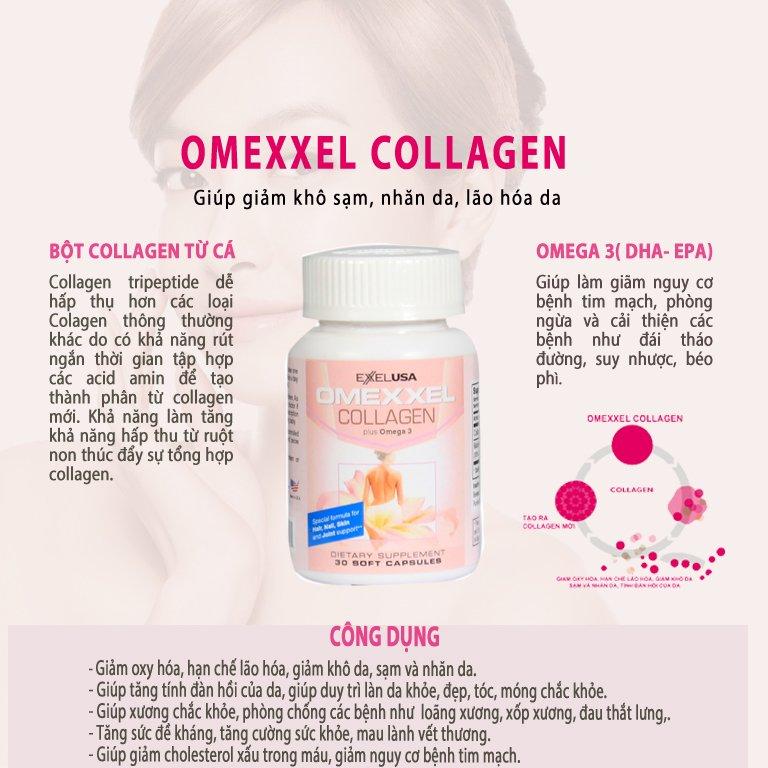 Combo 2 Lọ Thực Phẩm Chức Năng Viên Uống Đẹp Da,Chống Lão Hóa Omexxel Collagen (60 viên) - Chính hãng Mỹ