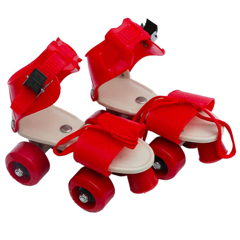 Dép Trượt Patin Trẻ Em 4 Bánh - Đỏ