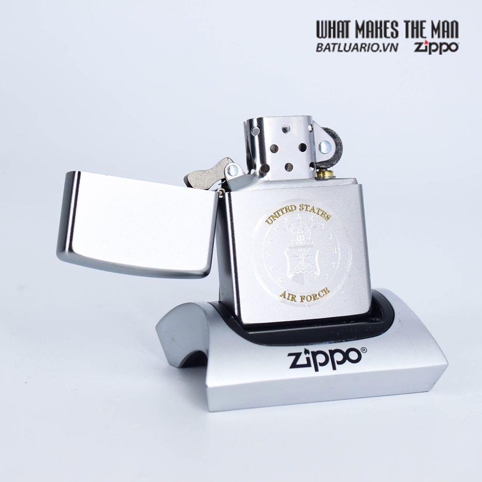 Bật Lửa Zippo 49147 – Zippo U.S. Air Force Satin Chrome