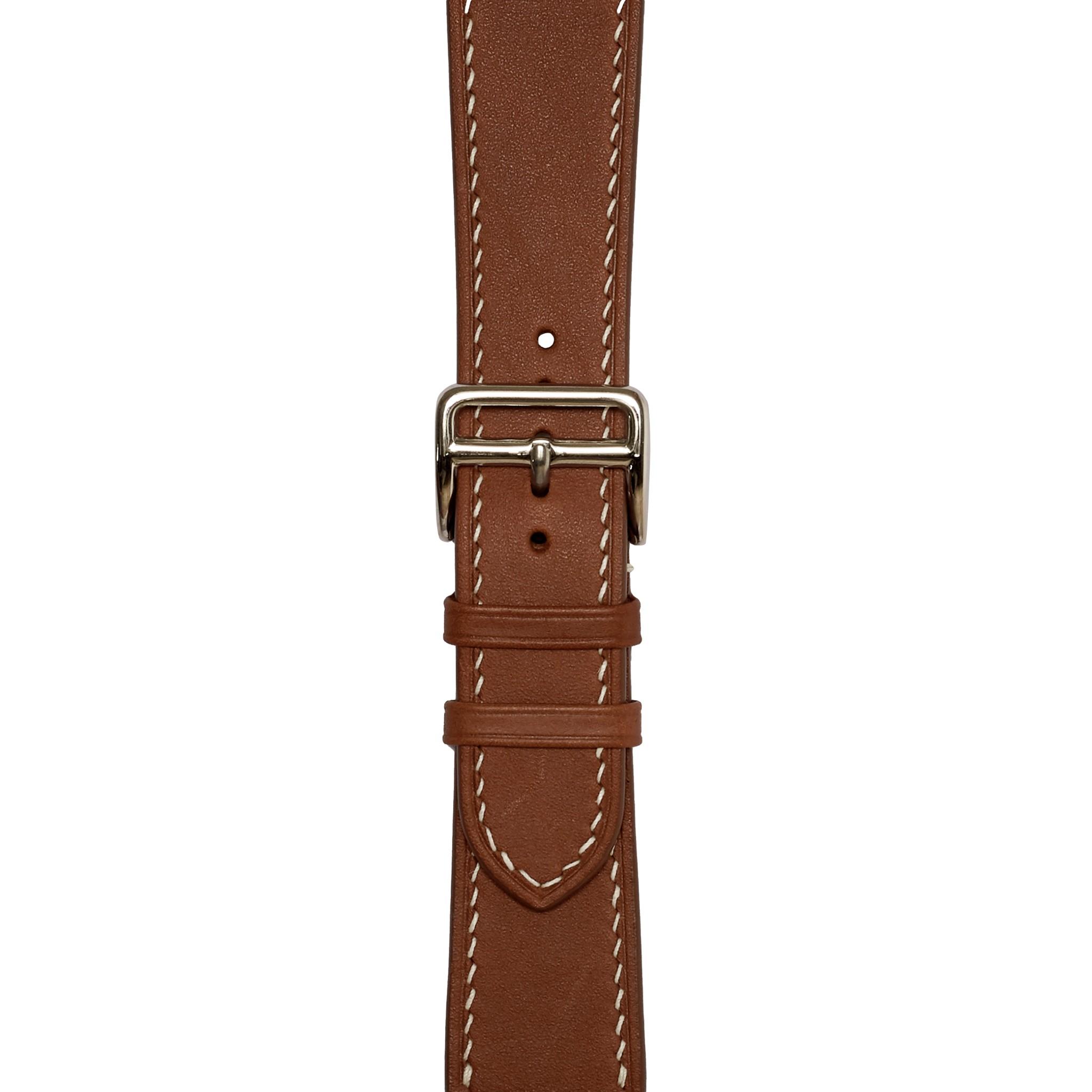 Dây đeo đồng hồ 24-20 MM chính hãng HANHSON SP000589  Barenia Nâu  cho Apple Watch