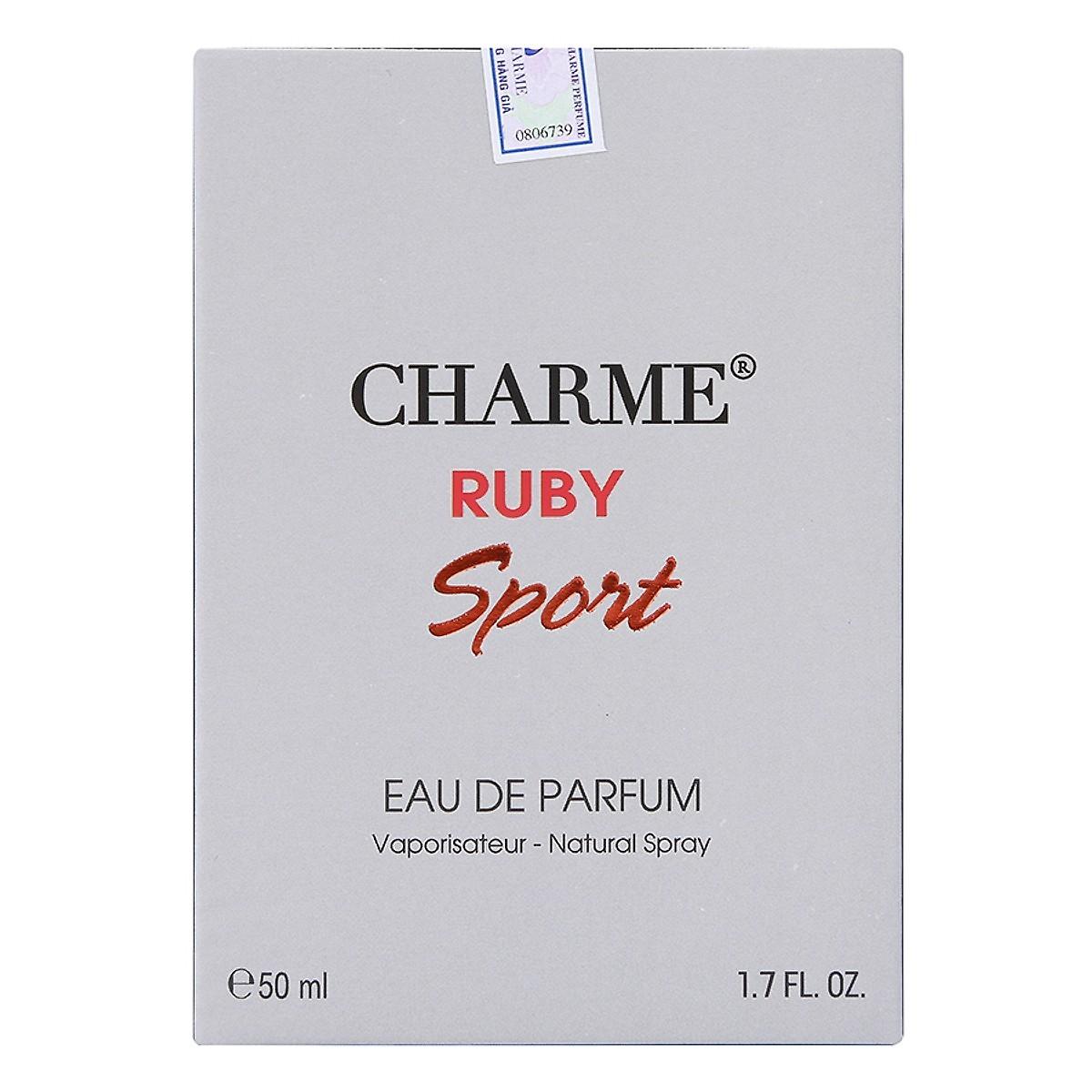 Nước hoa Nam Charme Ruby sport 2018 chai 50ml