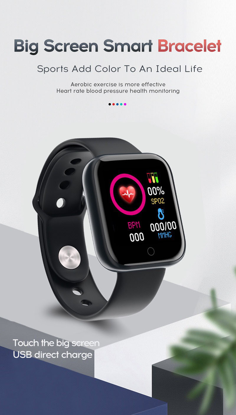 Đồng hồ thông minh smartwatch unisex nam nữ điện tử Y68 cực hot
