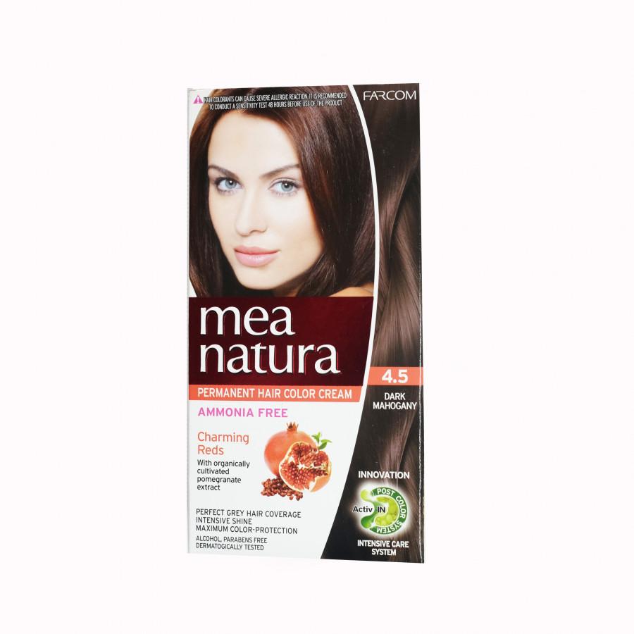 Màu nhuộm organic đỏ tím Farcom Mea Natura 4.5 Dark Mahogany (150ml)