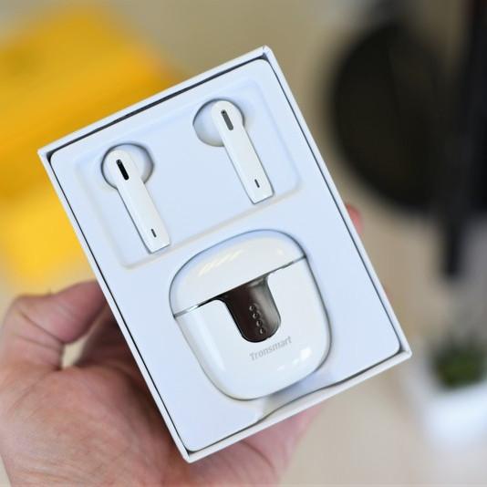 Tai Nghe Bluetooth Tronsmart Onyx Ace TWS không dây 5.0 chống nước IPX5 tích hợp công nghệ Qualcomm APTX hủy tiếng ồn cao cấp Với 4 Micro, 24H Giờ Chơi - Hàng Chính Hãng