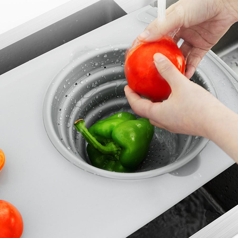 Thớt kết hợp rổ rửa thức ăn 2 trong 1 thắo lắp dễ dàng, đa năng