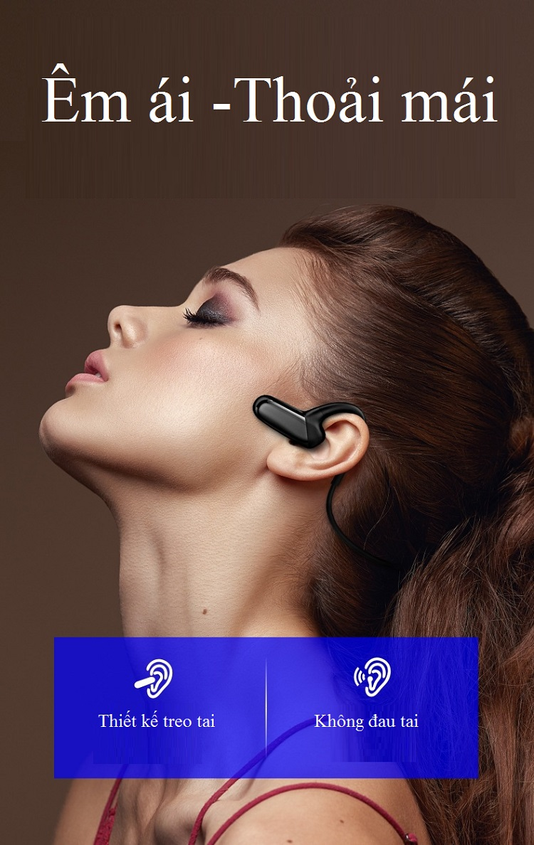 Tai nghe Bluetooth thể thao treo cổ F_808