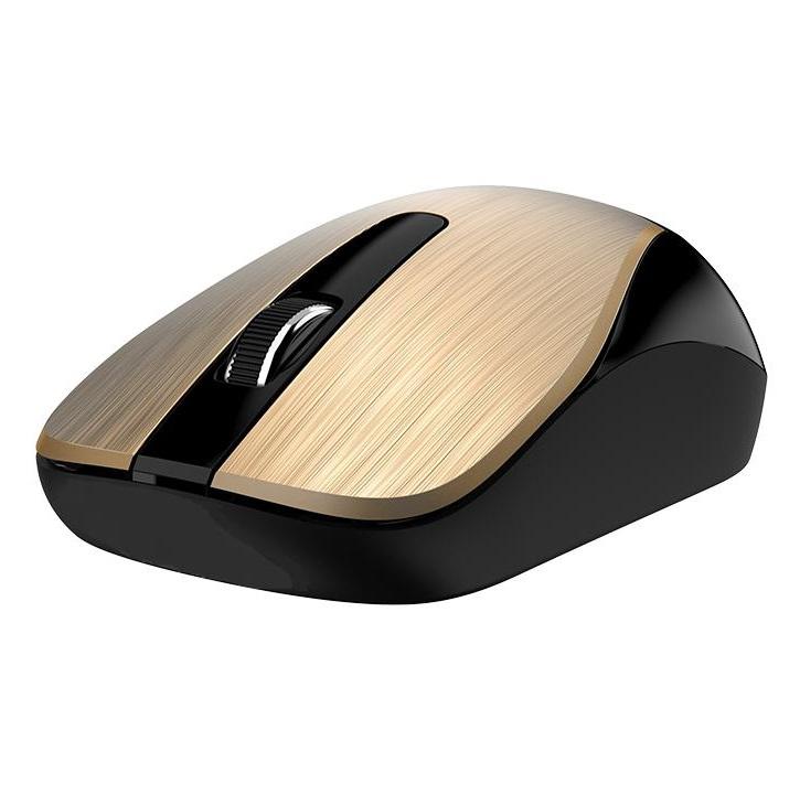 Chuột không dây Genius NX7015 Vàng - Hàng Chính Hãng