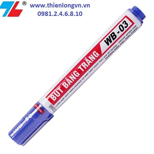 Combo 5 cây bút lông bảng to Thiên Long; WB-03 mực xanh