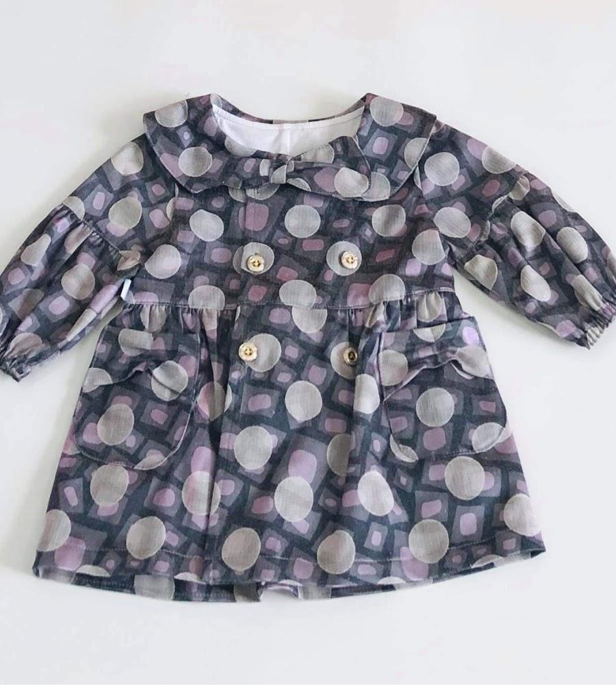 Áo khoác bé gái Bi tím 2 lớp kaki - AICDBGTXYYAK - AIN Closet