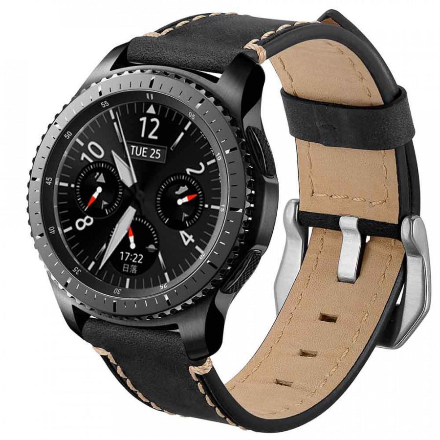 Dây Da Sáp France cho Galaxy Watch 46, Gear S3 (22mm)