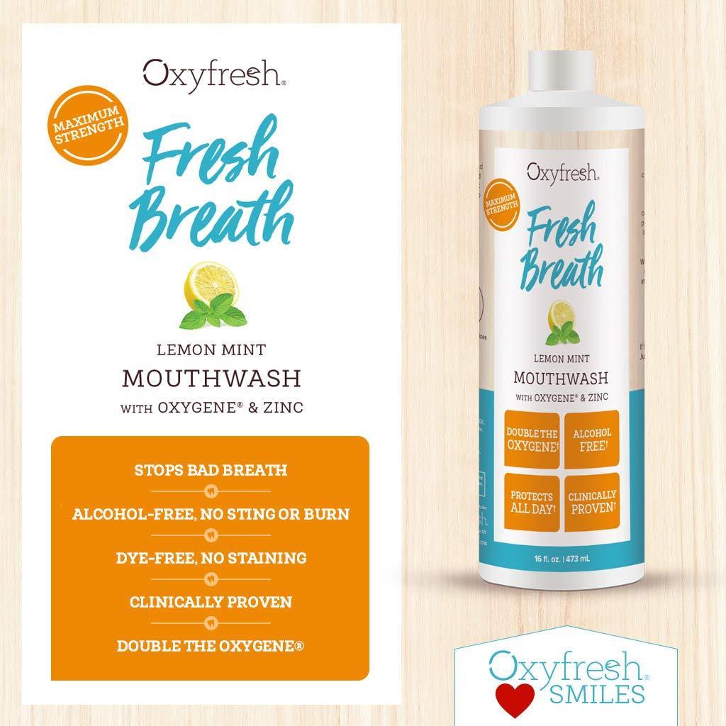 Nước súc miệng hương chanh dành cho người hơi thở có mùi - Oxyfresh