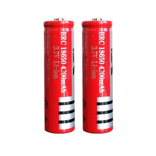 Combo 2 Pin lithium dung lượng cao 18650 3.7V 4800mAh - Hàng nhập khẩu