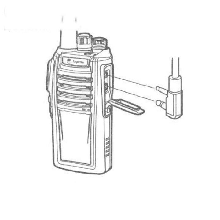 Tai nghe bộ đàm dùng cho máy bộ đàm hàng chính hãng cao cấp - Hàng chính hãng.
