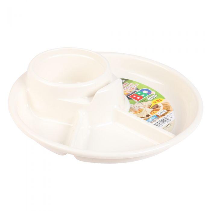 Khay ăn 3 ngăn kèm ngăn để cốc ( chọn màu ) - Tặng 01 đôi đũa tập ăn, 1 nút bịt ổ điện