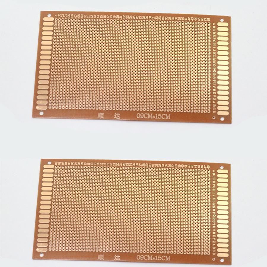 Bộ 2 Tấm Phíp Đồng Đục Lỗ PCB 9x15Cm