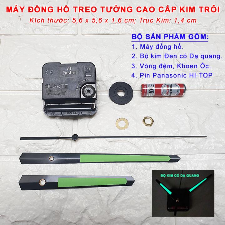 Máy Đồng Hồ Eastar Kim Trôi Độ Chính Xác Cao – Bộ Kim Đen Có Dạ Quang + Pin Panasonic HI-TOP