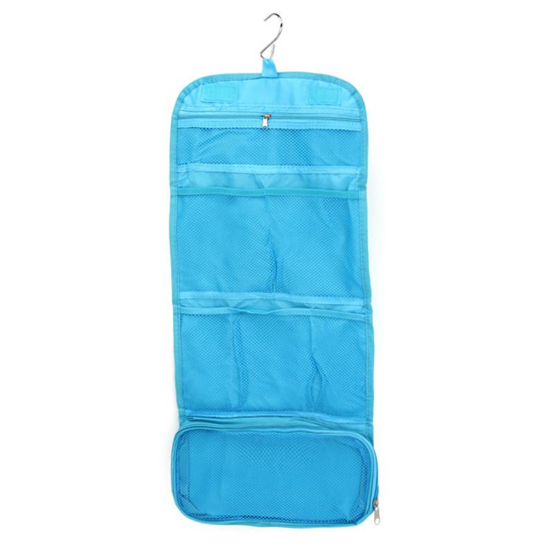 Túi treo 3 ngăn đựng mỹ phẩm, có thể gấp gọn - màu ngẫu nhiên