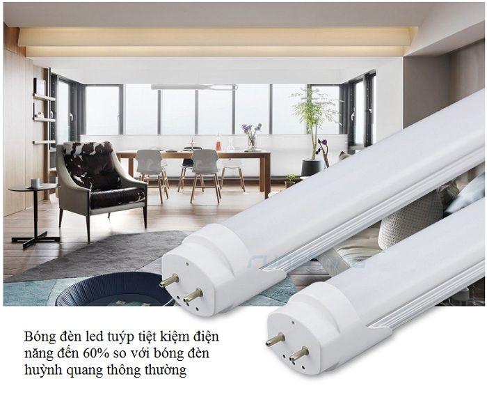 Bộ 2 bóng đèn tuýp Led T8 1.2m 20w siêu sáng, tiết kiệm điện