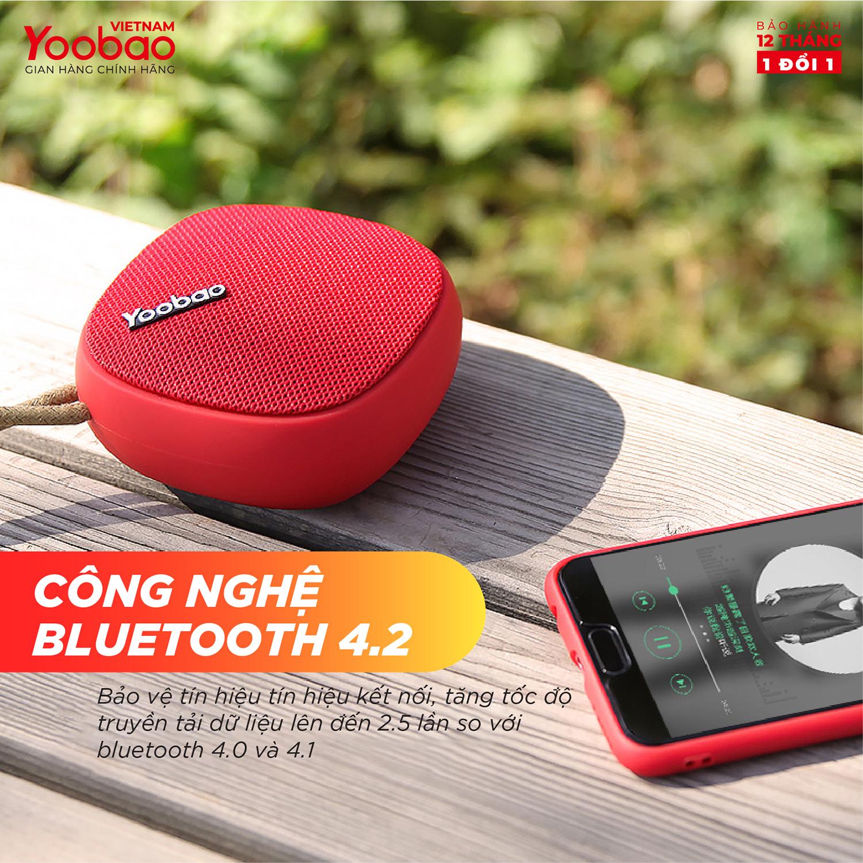 Loa Bluetooth mini Yoobao M1 - Dung lượng 2000mAh - Công suất 3W - Hàng chính hãng