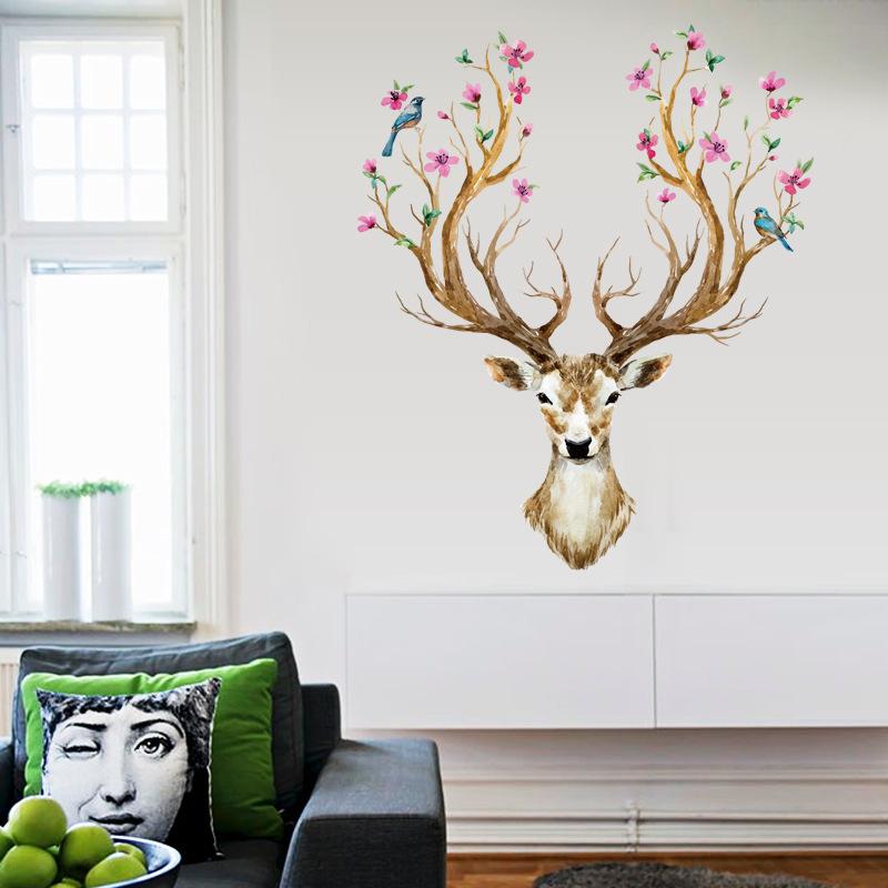 Decal dán tường Queen Deer SK9003