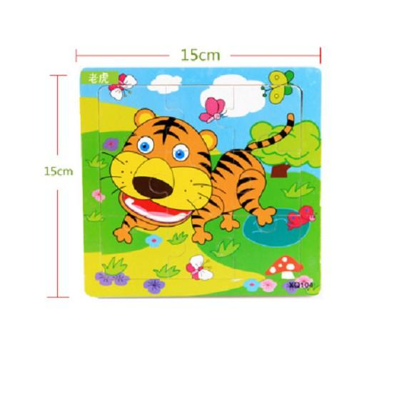 Combo 10 tranh ghép hình 9 miếng cho bé - giao ngẫu nhiên các hình khác nhau