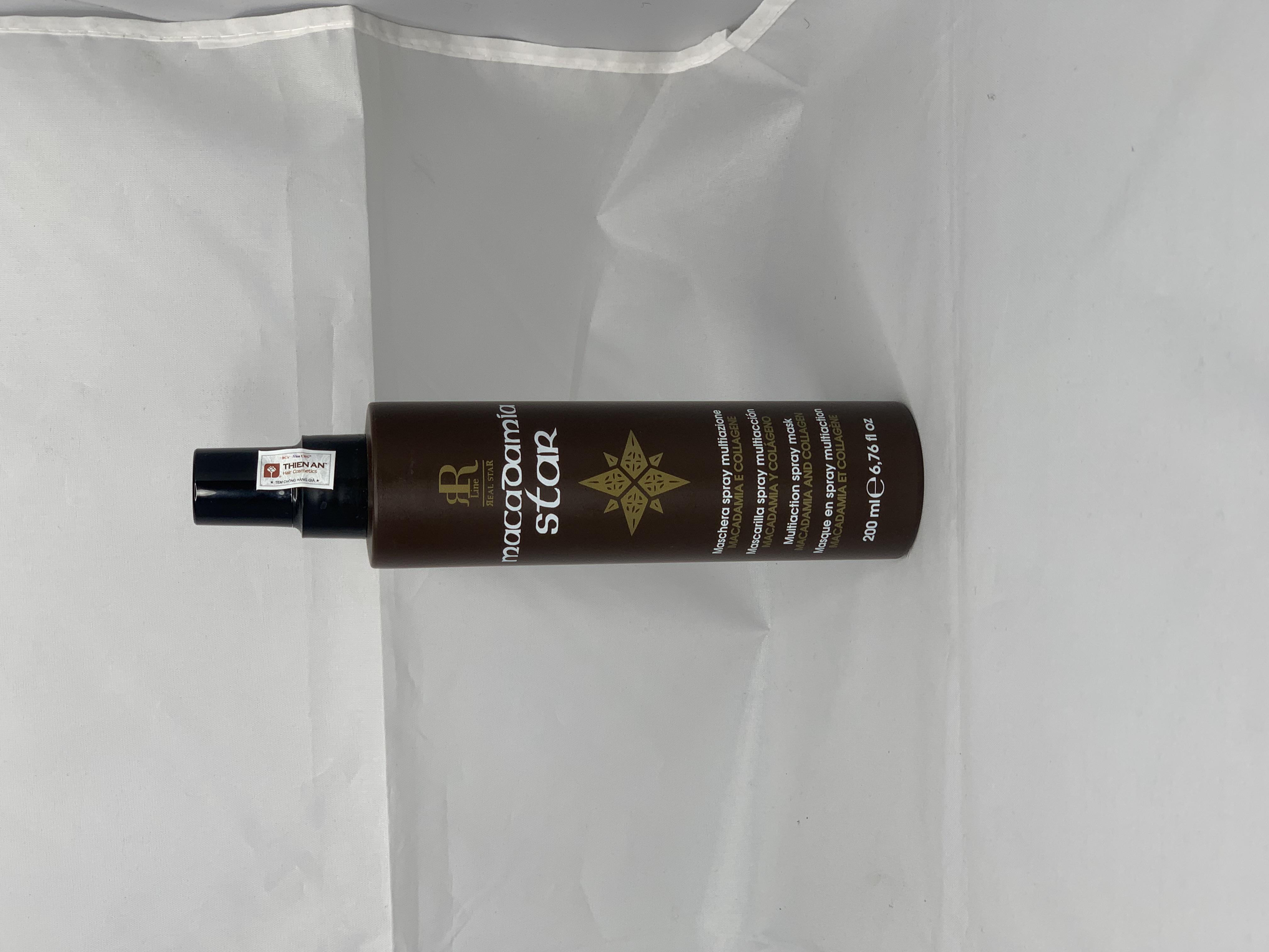 Xịt dưỡng phục hồi tóc xơ rối Rrline Macadamia Star Spray Mask 200ml