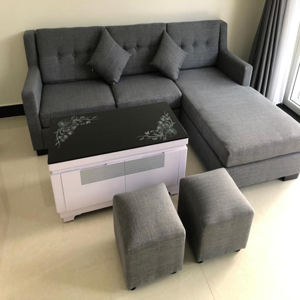 Bộ bàn ghế sofa phòng khách góc L