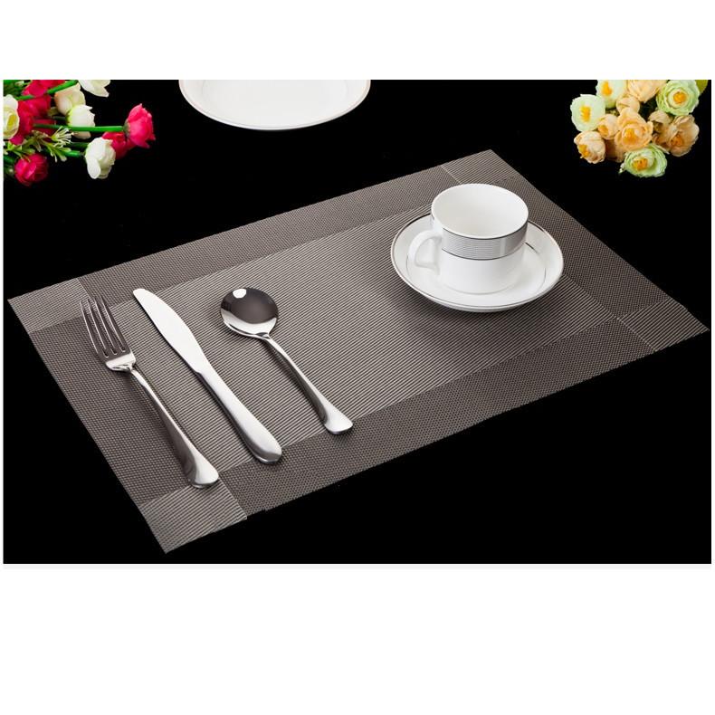 Set 2 Tấm lót bàn ăn xám - 30x45cm
