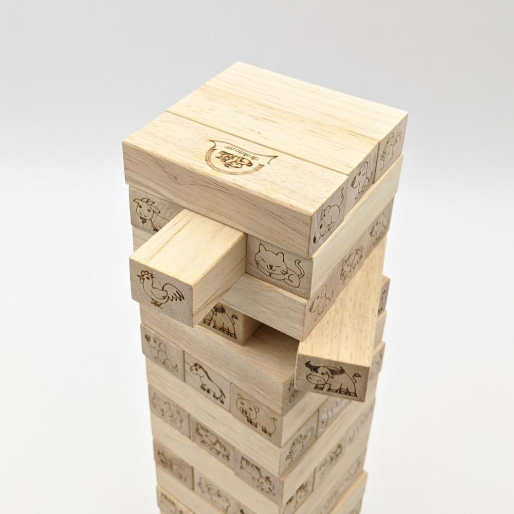 Bộ rút gỗ 12 con giáp đổ xúc xắc 48 thanh tăng khả năng sáng tạo và tư duy logic trong bé
