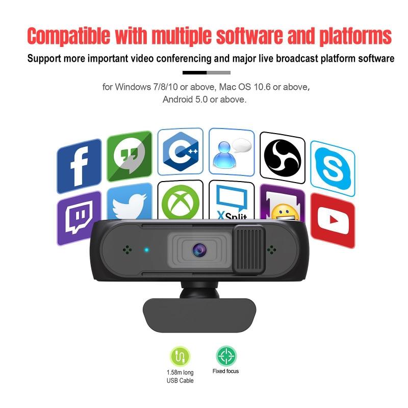 Webcam S2 Auto Focus 1080p