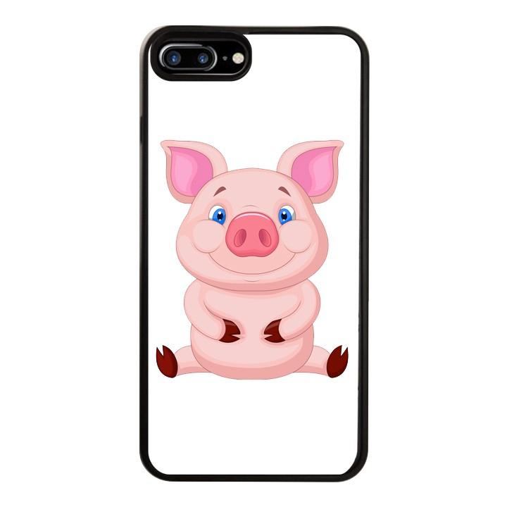 Ốp Lưng Kính Cường Lực Dành Cho Điện Thoại iPhone 7 Plus  8 Plus Pig Pig Mẫu 2