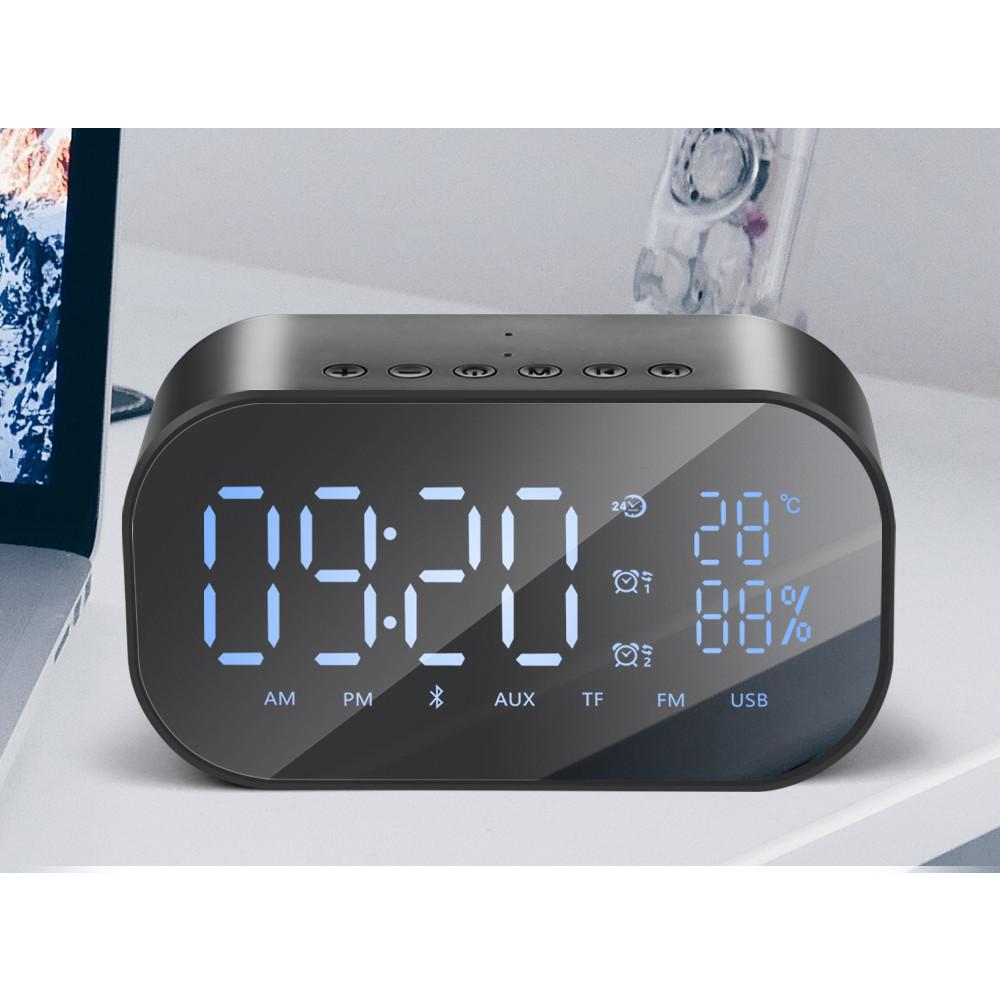 Loa Bluetooth tích hợp đồng hồ báo thức, đo nhiệt độ VINETTEAM S2 cắm được thẻ nhớ - Hàng chính hãng