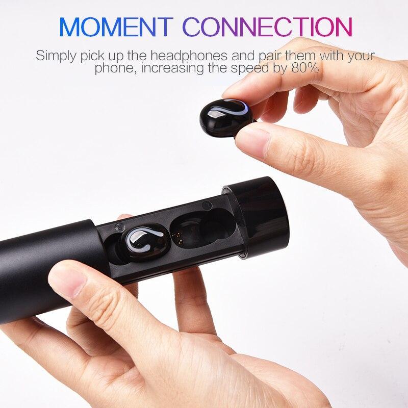Tai Nghe Bluetooth True Wireless HBQ Q67 LED Stereo V5.0 + EDR -  Hàng Chính Hãng