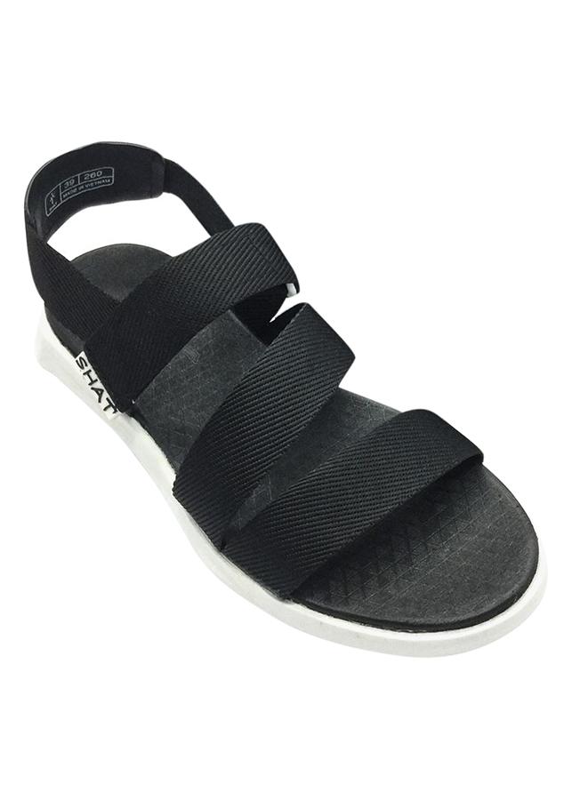 Giày Sandal Nữ SHAT THM112 - Đen Trắng