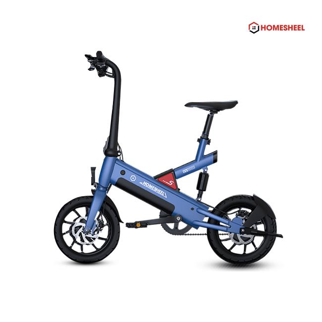 Xe điện gấp gọn độc nhất và thông minh Homesheel T6_ 10AH MÀU XANH DƯƠNG