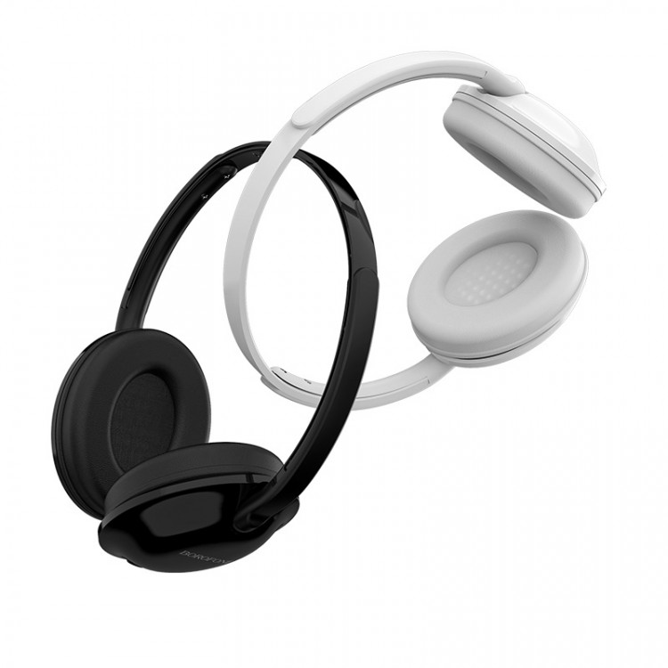 borofone bo1 enjoybass in line control wired headphones black white
