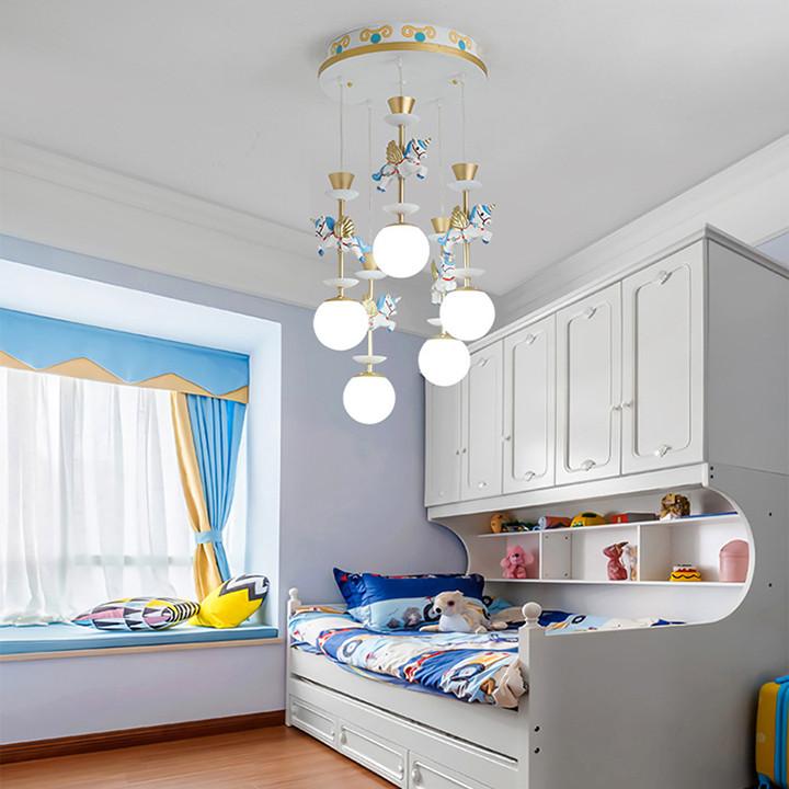 Đèn chùm phòng ngủ, đèn trần PH-D007 - Giao màu ngẫu nhiên