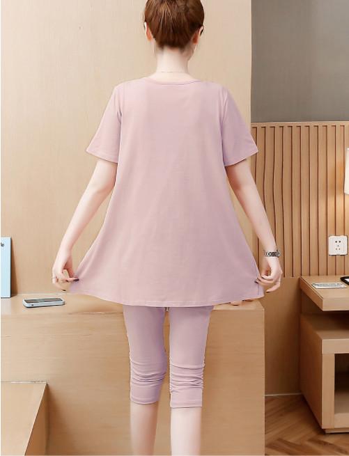 Bộ đồ ngắn mặc bầu hồng baby  thiết kế sang chảnh, chất liệu cao cấp  BN166