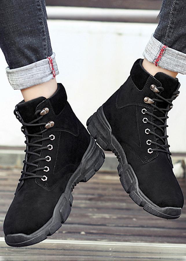 Giày boot nam cổ cao,thiết kế châu âu cực ngầu và êm chân,chất liệu da pu lộn -0800
