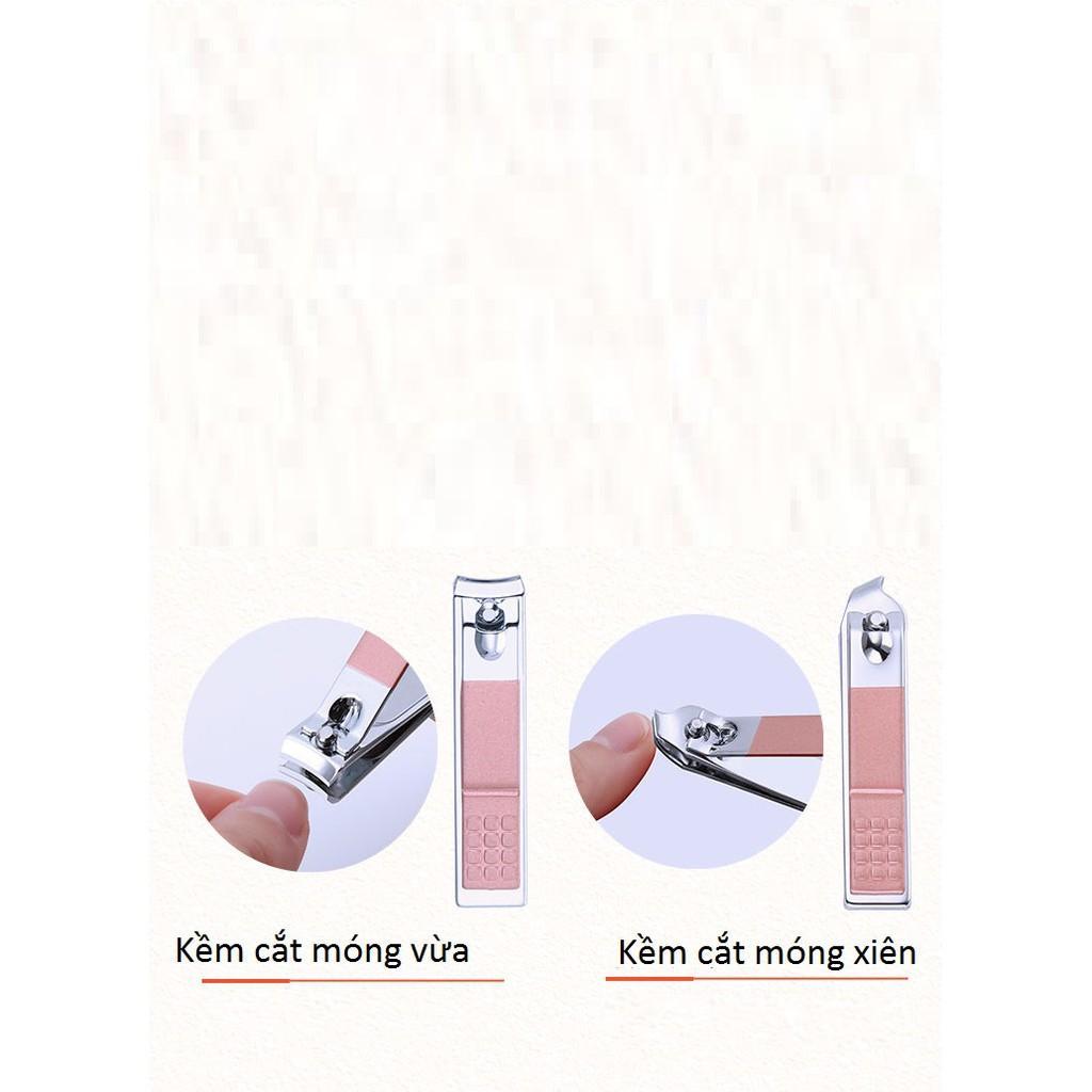 Bộ bấm móng tay 18 món thép không gỉ-bộ cắt móng tay cao cấp