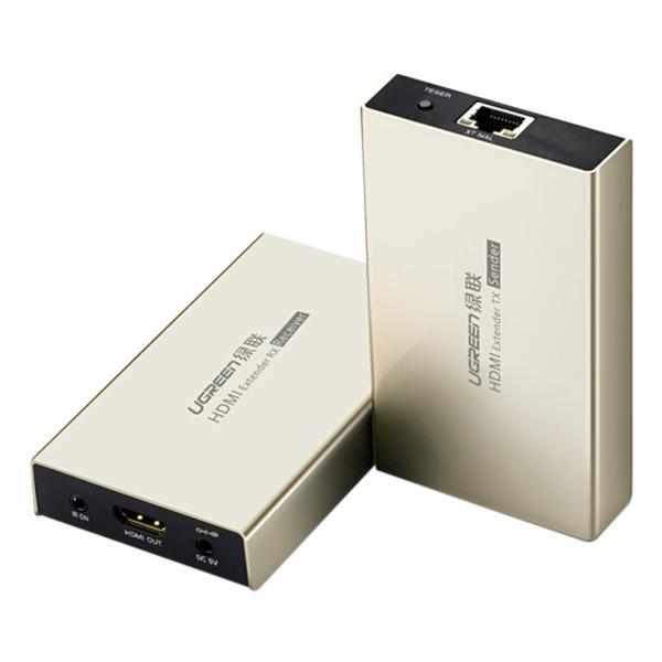 Bộ Nối Dài HDMI Qua Cáp Mạng Hỗ Trợ Tối Đa 120m IR Control Ugreen 40283 (Không Kèm Cáp Mạng) - Hàng Chính Hãng