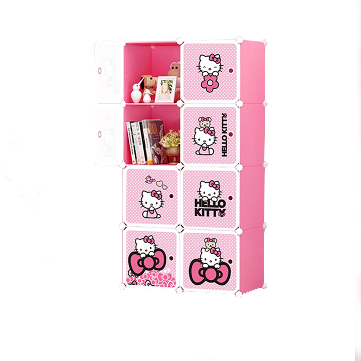Tủ nhựa ghép 8 ngăn (74 x 47 x 148cm )
