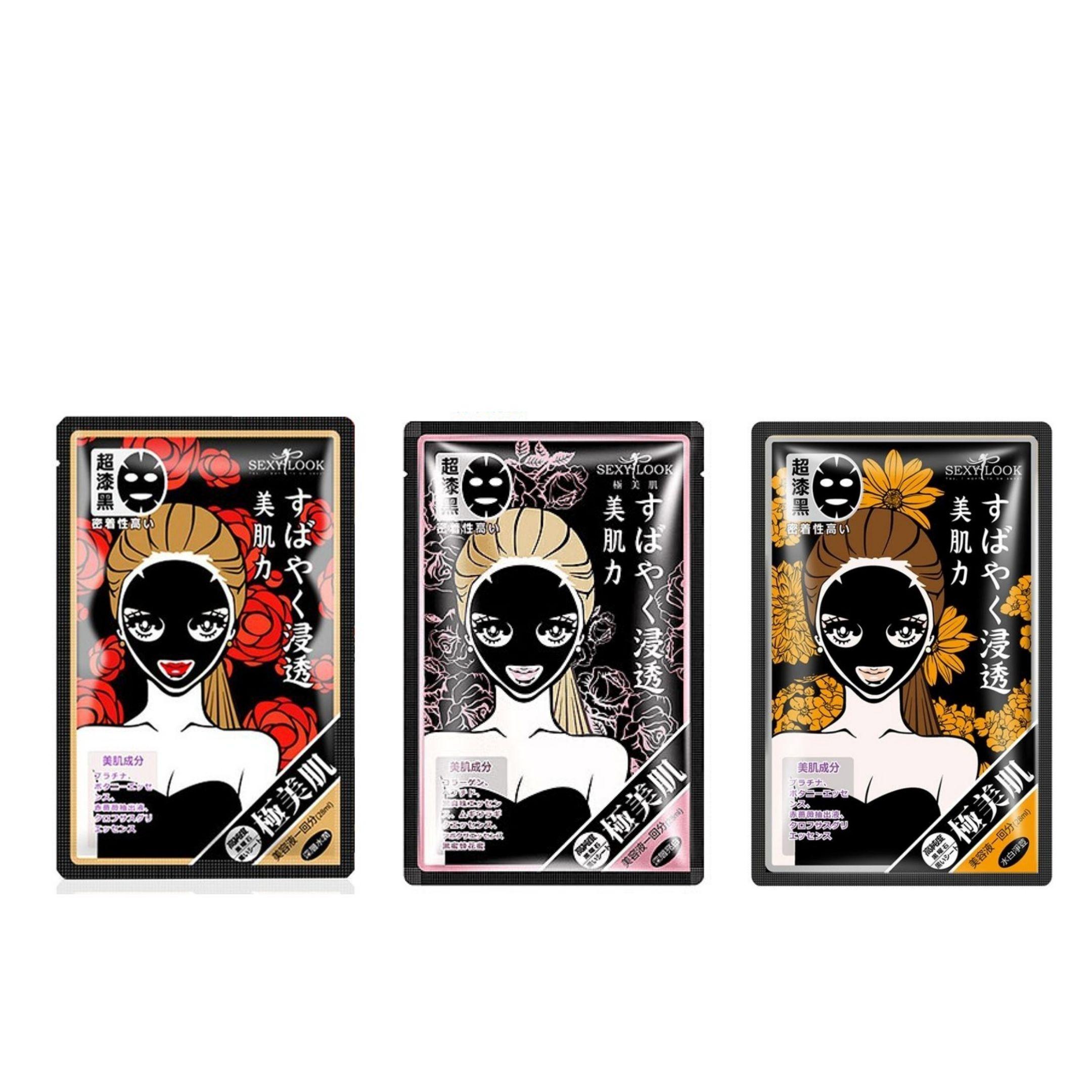 5 miếng mặt nạ đen dưỡng ẩm/ dưỡng trắng/ dịu mụn Sexylook Black Mask (Nhập khẩu)