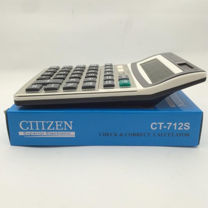 Máy tính 12 số bỏ túi cầm tay năng lượng mặt trời ClTlZEN CT-712S Cao Cấp